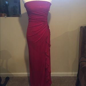 Red Stapless Formal